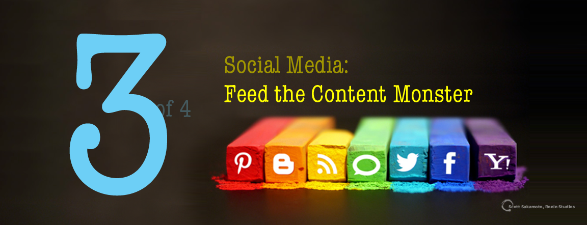 Feed the Content Monster, Build a Foundation, Get Started, The Art of Social Media, Scott Sakamoto, Internet Marketing, Social Media, Best Practices